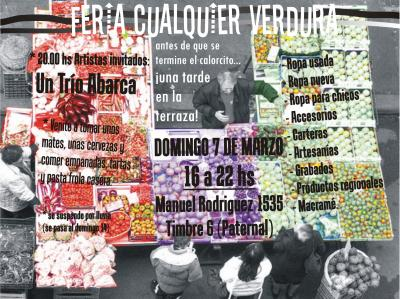 Feria Cualquier Verdura 07/03 en la terraza