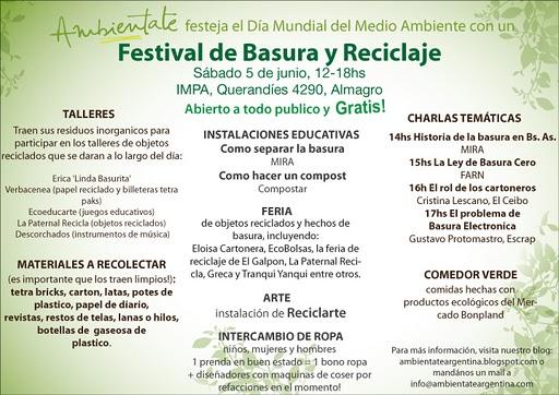 FESTIVAL DE BASURA Y RECICLAJE!